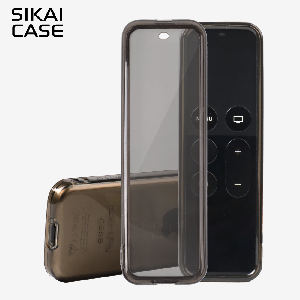 SIKAI For Apple TV 4th Remote Control Case Protective TPU Cover For Apple TV 4 Smart TV Remote Control Skin With Free LanyardSIKAI For Apple TV 4th Remote Control Case Protective TPU Cover For Apple TV 4 Smart TV Remote Control Skin With Free Lanyard