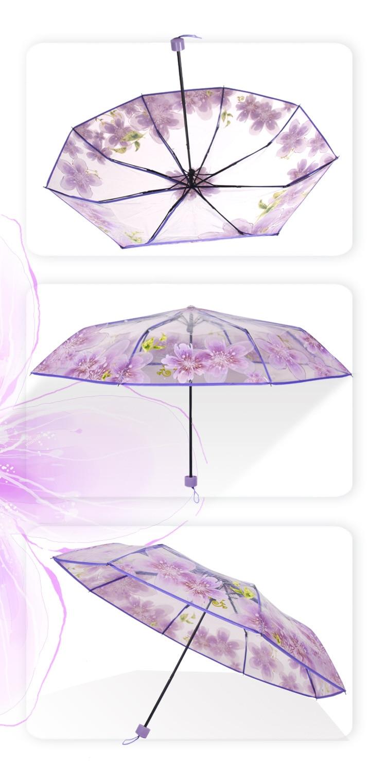 Chuva Mulheres Guarda-chuva de Proteção Ambiental Para