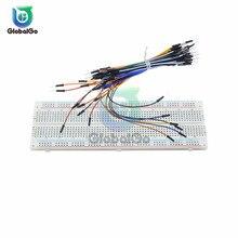 цена на MB102 Breadboard Mini USB Power Supply Module + 830 Points Holes Universal Solderless PCB Breadboard + 140pcs 65pcs Jumper Wires