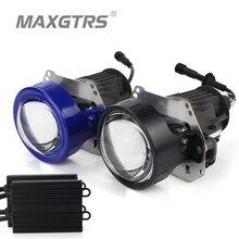 Высокое качество MAXGTRS автомобильный Би-светодиодный объектив проектора светодиодный фонарь Hi Lo луч автомобиля-Стайлинг 35 Вт 5500 к комплект для модернизации авто освещение