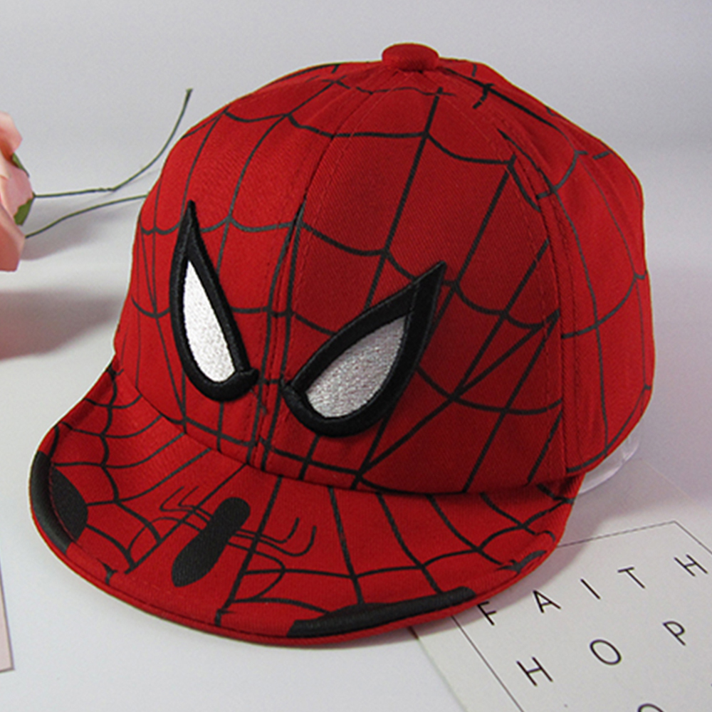 New Spiderman Cartoon baby Broderi Bomull Baseball Cap Barn Pojke Flicka Hip Hop Hat Spiderman Cosplay Hat