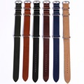Hot Sale High Quality Genuine Leather ZULU WatchBand ZULU straps with Silver buckes18mm 20mm 22mm
