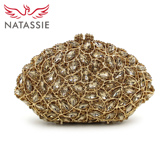 481ebeaa26 NATASSIE High Quality Women Clutch Bag Luxury Evening Bags Ladies Wedding Clutches  Gold Designer Purse And