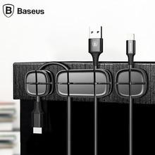 BASEUS Прочный Магнитный Кабель Клип кабель usb Организатор зажим для рабочего рабочей станции Провода шнур Управление Устройства для сматывания шнуров