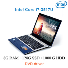 """P8-15 black 8G RAM 128G SSD 1000G HDD i7 3517u 15.6 gaming laptop DVD driver keyboard and OS language available for choose"""""""