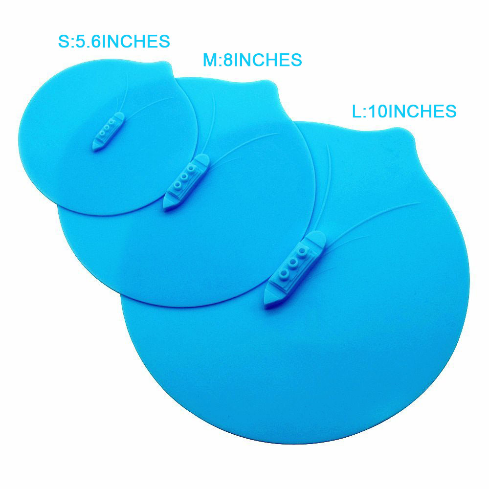 3PCS SILICONE STEAM SHIP POT LIDS PRESSURE COOKER SEAL SILICONE COVER FOR PAN SILICONE LID SPILL