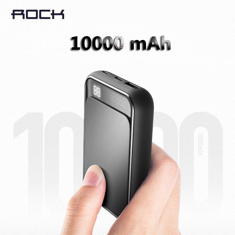 Handy-zubehör Rock Digital Display Lcd Power Bank Für Xiaomi Mi8 Tragbare 10000 Mah Telefon Externe Batterie Für Handys Tabletten Poverbank