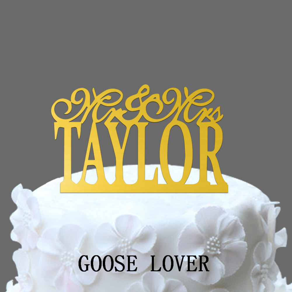 Personalized Last Name Weddings Cake Toppers, Monogram Cake Stand ...