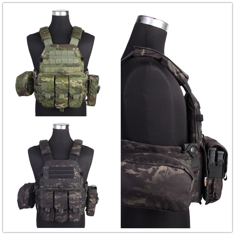MCTP EMERSON  LBT6094A Style Vest Pouches Airsoft Painball Military Army Combat Gear Cordura  MCBK Hunting Vest