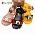 Прозрачные Сандалии для маленьких девочек и мальчиков  пляжная обувь на весну-лето  новая детская обувь  милые детские сандалии с рисунками ...