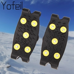 5 Studs Ice Spikes for Shoes Ice Floes Cleats Crampons Outdoor Snow Climbing Antiskid Grips For Shoes Covers Crampons In Winter