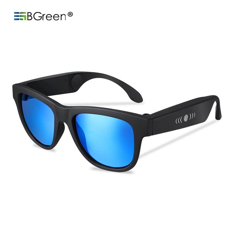 BGreen Bone Conduction Bluetooth Sport Headphone Sunglasses Sports Earphones Stereo Headset With Microphone Support Phone Call