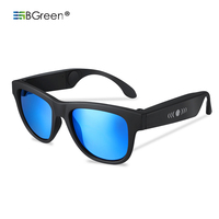 BGreen G1 Bone Conduction Wireless Bluetooth Sport Headphone Sunglasses Earphones Stereo Headset Support BT Call Touch Control