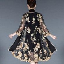 Женское элегантное винтажное платье с цветочной вышивкой среднего возраста, 2 предмета, повседневные платья для вечеринок, облегающее платье размера плюс 5XL