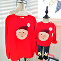 2016 осень семья посмотрите одежда мать и дочь одежда семья соответствующие наряды отец сын дети твердые рубашка на Рождество