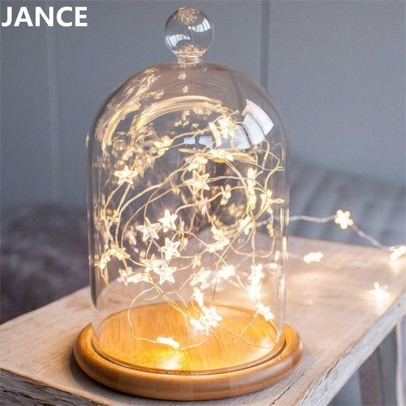 Copper lamp stars Christmas decorative lights room small lights dormitory art  decoration romantic stars pendant lamp