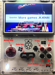 Image 4 - Gameberry Retropie Lakka Retro Pie Raspberry Pi 15000 Retro Gioco allinterno di Gioco Portatile 5 pollici di Schermo 10000mA Batteria