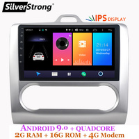 SilverStrong Android9.0 ips автомобиль 2Din DSP gps для FORD Focus 2004 2011 4G модем 2din 1024*600 gps навигация wifi