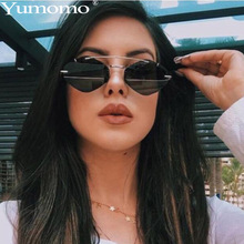 Sexy Round Sunglasses Women Stylish Retro Trendy Unique Metal Frames Red Tinted Color Lens Shades Flat Top Frame De Sol Gafas