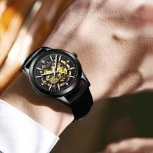 New European and American personality waterproof watch Fashion ultra-thin steel belt quartz  business luminous trend 0025