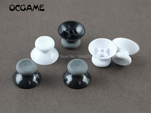 OCGAME 100pcs/lot Black&white Analogue Thumbsticks Joystick Cap Mushroom Head Rocker Grip Cover for xboxone s XBOX one slim
