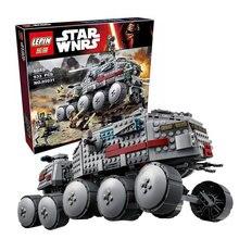 933Pcs LEPIN 05031 Star Wars Clone Turbo Tank 75151 Building Blocks Compatible with 75151 STAR WARS