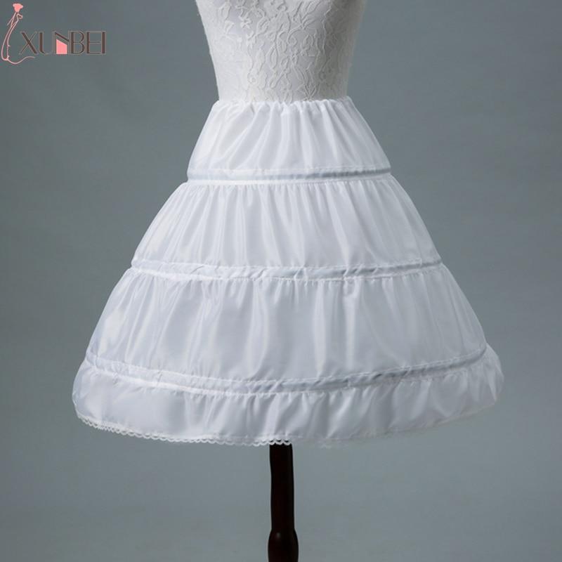 In Stock 3 Hoops One Layer 2019 White A-Line Flower Girl Dress Petticoat Kid Crinoline Underskirt Wedding Accessories