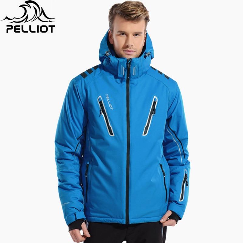 ANHUI BRIGHT GARMENT CO.,LTD PELLIOT Brand Snow Ski Jacket Men Winter Snowboard Jacket Waterproof Breathable Thermal Cotton-Padded Super Warm Skiing Jackets