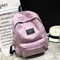 Nuevo terciopelo de la llegada mochilas hombres mujeres escuela mochila para adolescentes mochilas estudiante mochila back pack doube hombro bolsas