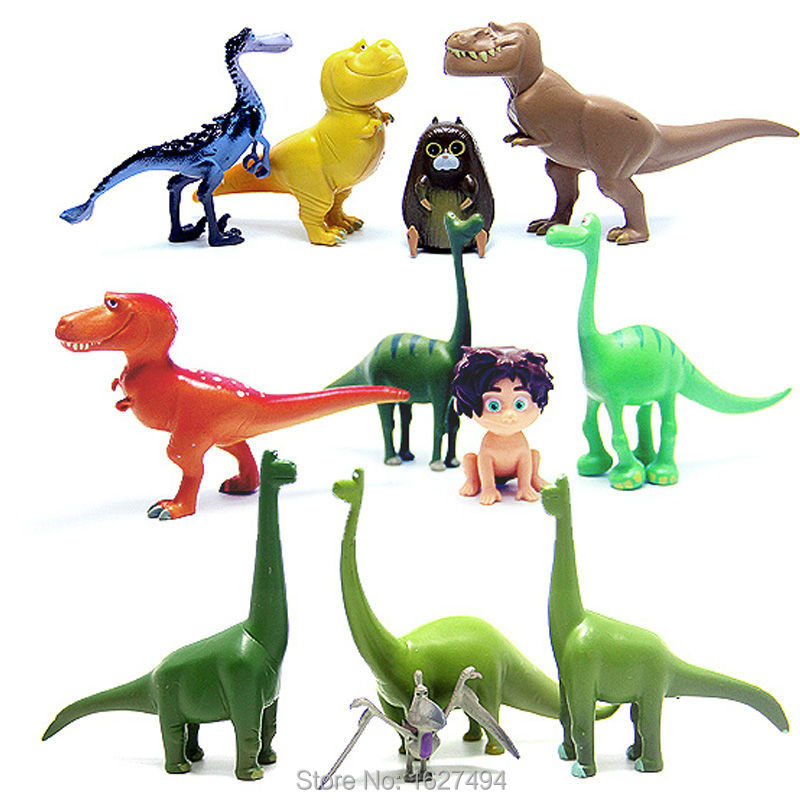 12pcs/lot Arlo Spot The Good Dinosaur Miniatures Anime PVC Action Figures Dinosaurs Movie Figurines Set Kids Toys for Boys Girls