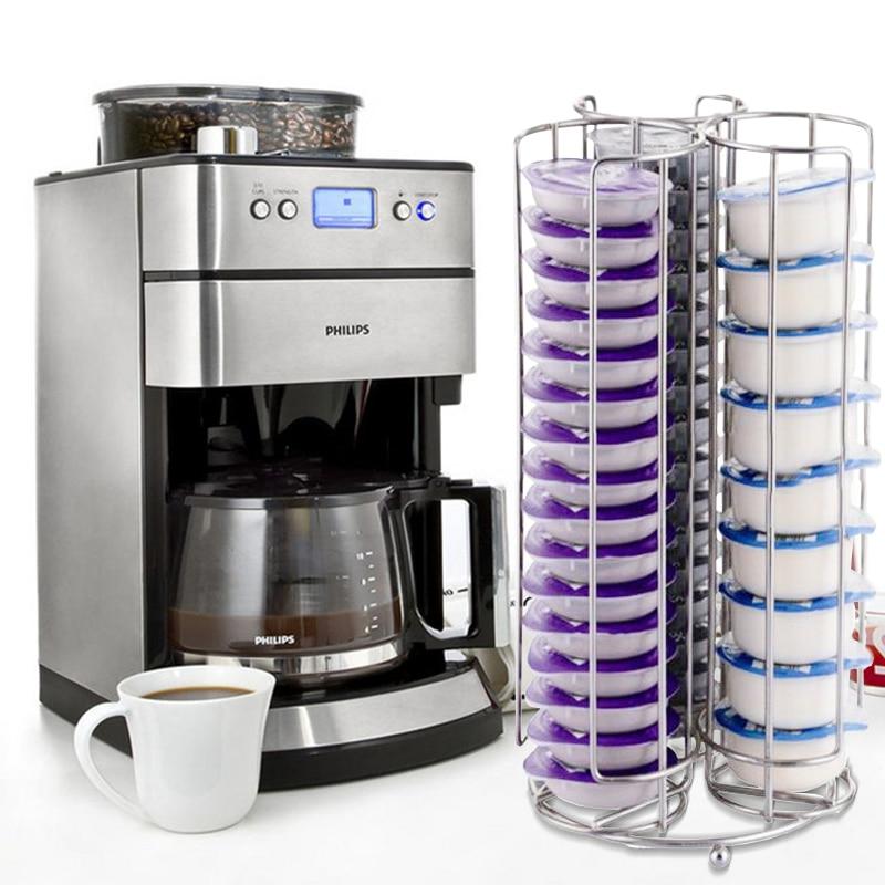 YONTREE 1pc de 48/52 Copas de Metal Rotativo de Café Cápsula - Organización y almacenamiento en la casa