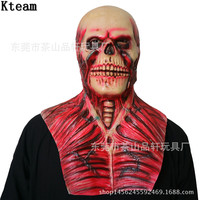 2018 New Bloody Scary Devil Zombie Mask Halloween Cosplay Party Horror Monster Skull Mask Latex Fancy