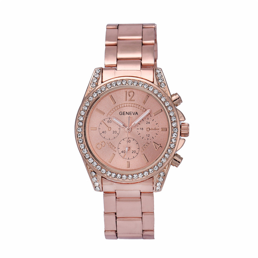 Relojes mujer 2017 Relogio Feminino Watches Women Rhinestone Crystal Quartz Analog Wrist WatchJune27A