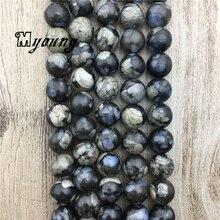 цена Smooth Round Natural Genuine Grey Opal Beads, Opal Quartz Loose Beads For DIY Jewelry Making 5 strands/lot MY1927 онлайн в 2017 году
