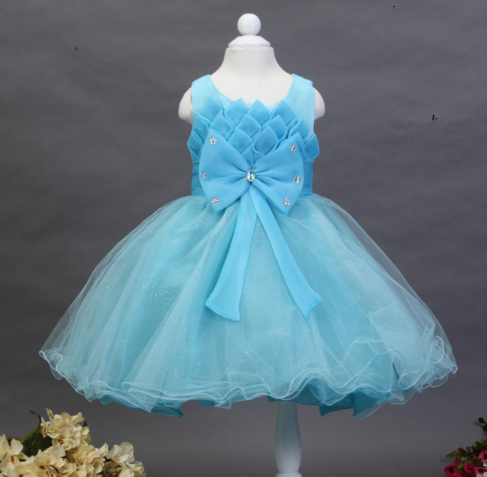 2017 New Baby Kids Girls Birthday Wedding Party Princess Dress