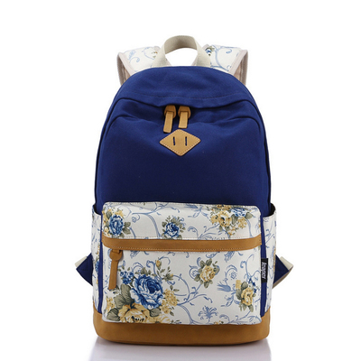 Canvas backpacks All match fashion canvas bag ladies leisure women travel backpack printed school bag travel