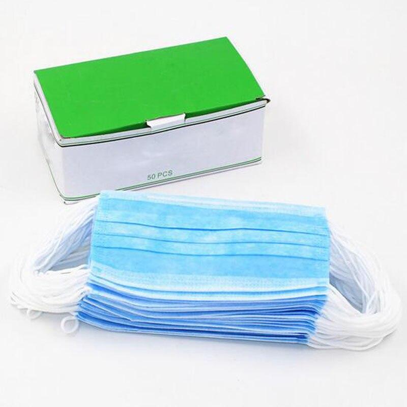 ჱDisposable Blue Surgical Dust Filter Mouth Cover Beauty Nail Salon ...