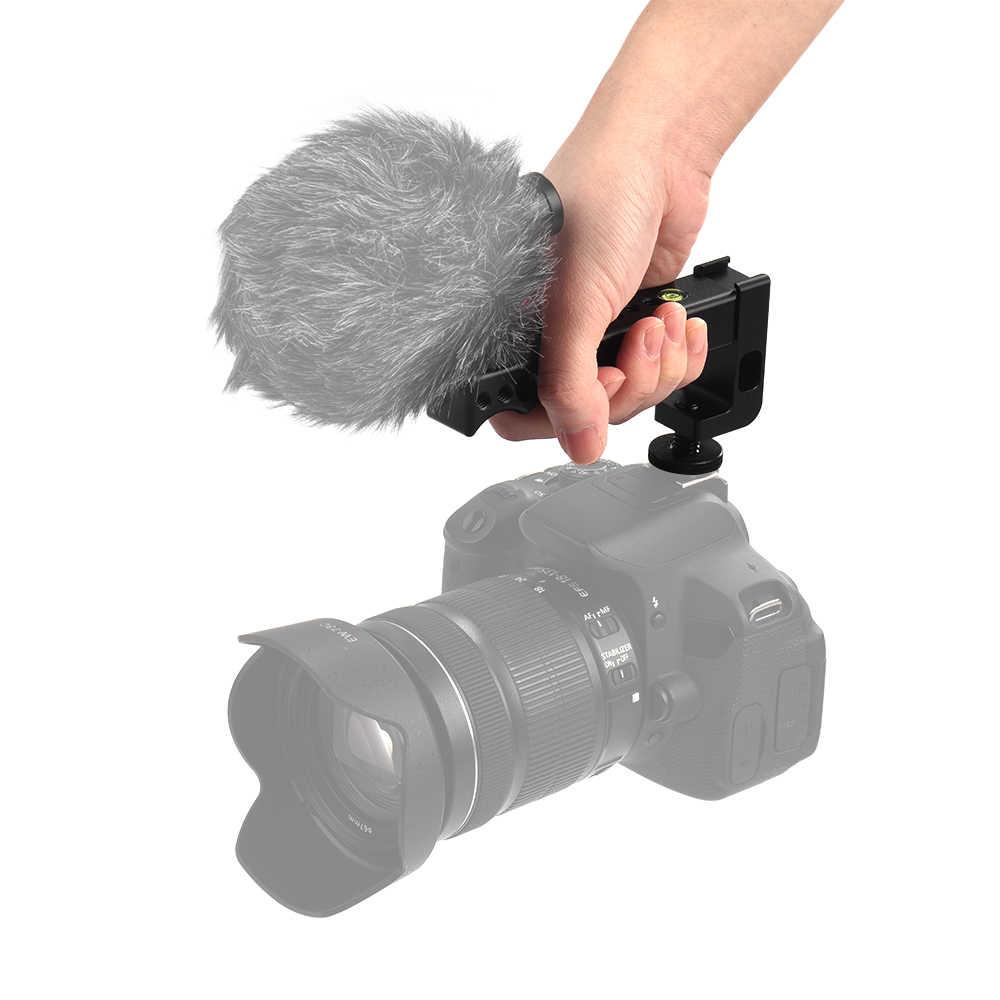 Andoer верхняя ручка для камеры ручка с двойной Холодный башмак база для Canon EOS Nikon sony A7 A9 Pentax Olympus DSLR