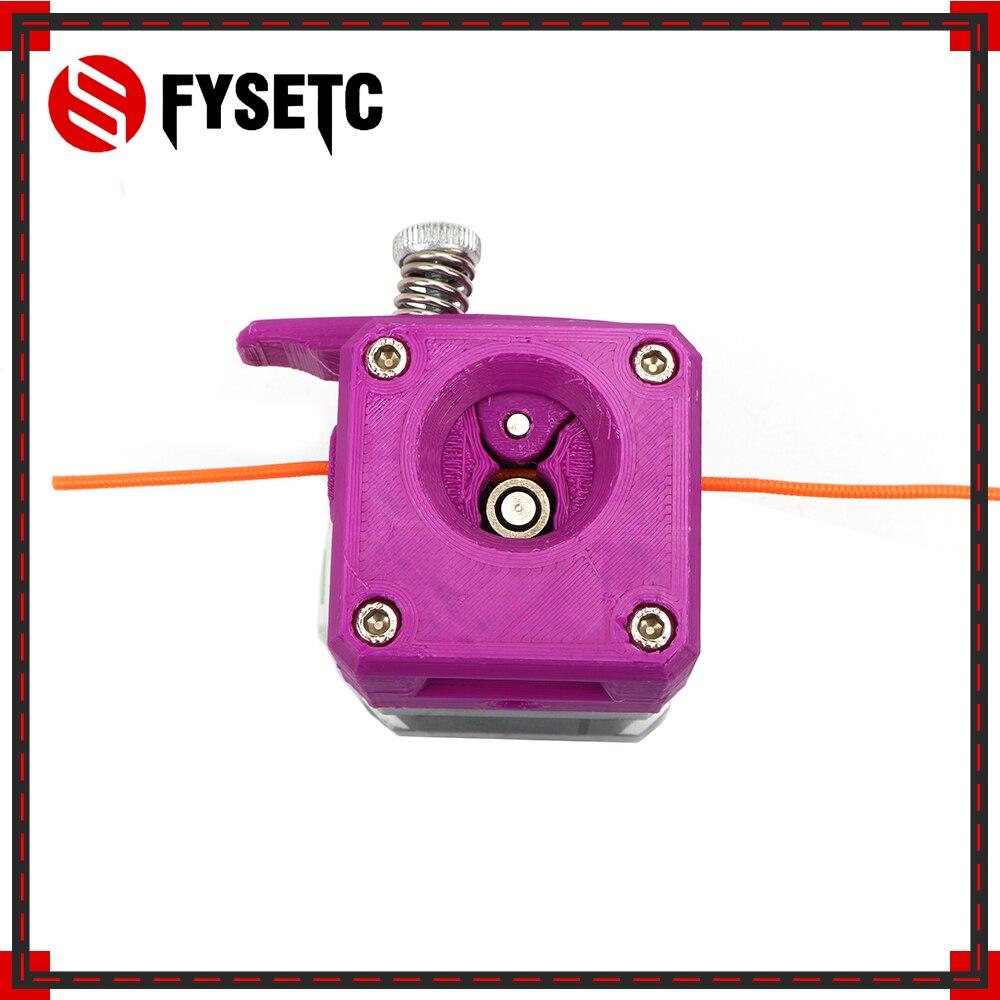 1 Unidades set Purple drivegar Kit de extrusor de engranaje de doble unidad clonado Btech Upgrade para Prusa i3 3D Printer Gear Mini Bowden extrusor