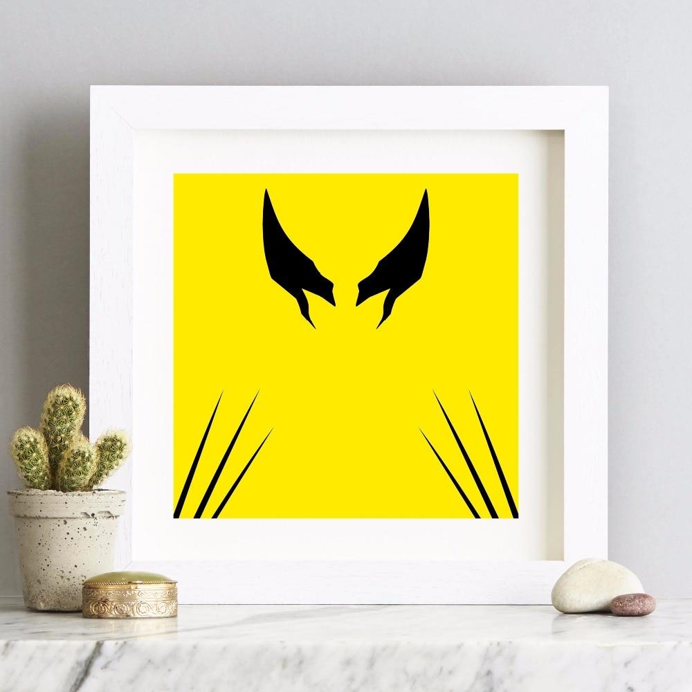 Superhero Minimalist Artwork Canvas Art Print Painting Poster Wall ...
