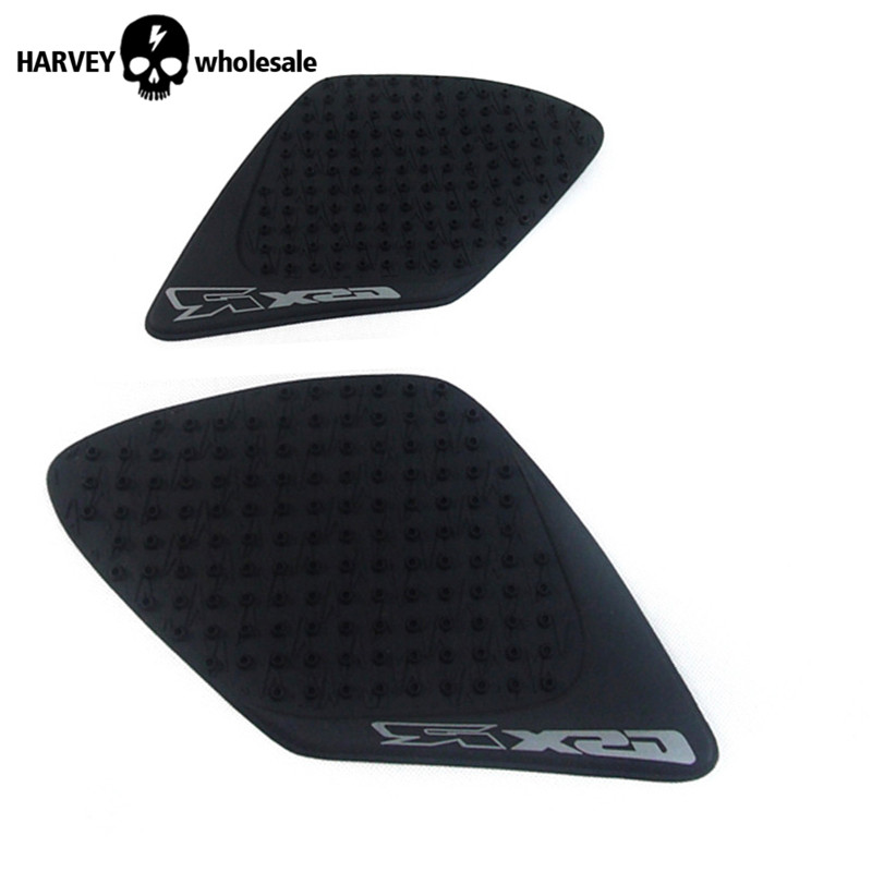 Black 3M Motorcycle tank sticker Protector Anti slider sticker Pad Knee Grip for suzuki gsxr1000 gsxr 1000 2007 2008 scoyco k11h11 motorcycle sports knee elbow protector pad guard kit black