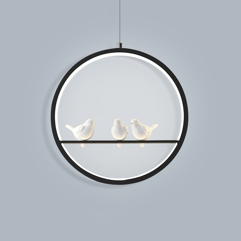 Nordic modern birds LED pendant lamp resataurant cage dining room living room corridor bedroom Chandelier 18w bird lightsNordic modern birds LED pendant lamp resataurant cage dining room living room corridor bedroom Chandelier 18w bird lights