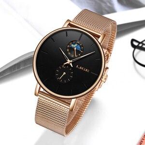 Image 3 - 2019 新 LIGE 女性の高級ブランド腕時計シンプルなクォーツ女性防水腕時計女性ファッションカジュアル腕時計時計リロイ mujer