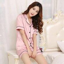 Plus Size 5XL 2pc Set Shorts Pajamas Women Short Sleeve Satin Silk Nightwear Summer Home Pijamas