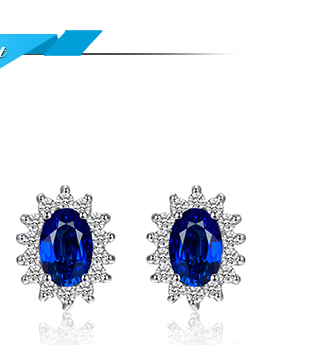 HTB1ykMfXcCNZ1JjSZFHq6z.kVXa1 JPalace Diana Created Blue Sapphire Stud Earrings 925 Sterling Silver Earrings For Women Korean Earings Fashion Jewelry 2019