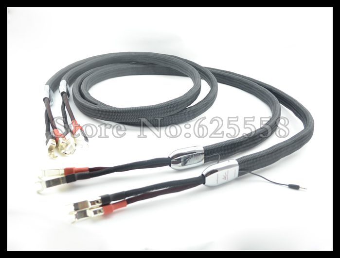 WEL Signature Speaker Cable Pair 2.5M Silver Spade Plugs 72V DBS цена и фото