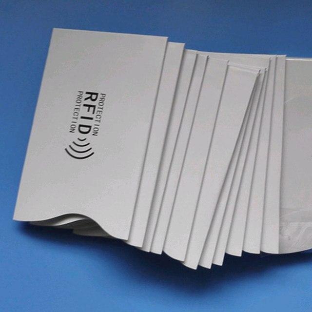 RFID Güvenli Koruyucu Engelleme KIMLIK Kredi Kartı Kollu Tutucu 9*5.8 CM 0579