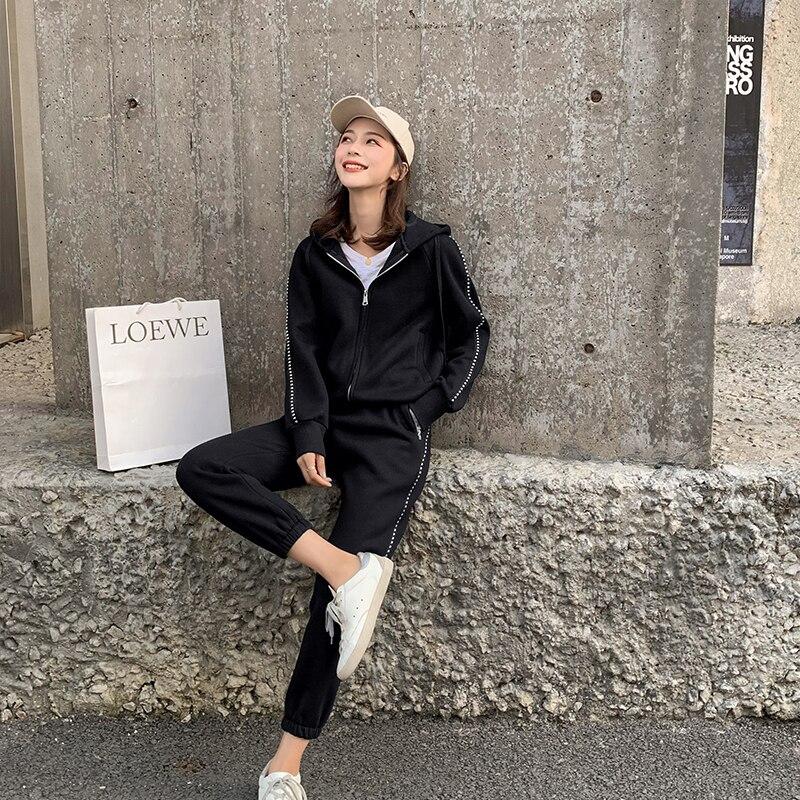 43badab7c8b19 Vêtements Dn10581 Sport D'hiver Fille Grand Mm Costumes Pour Top Deux Grande  Pantalon Relaxsuit Femmes ...