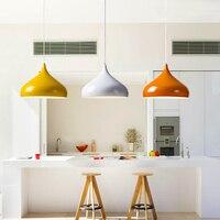 Vintage Nordic Pendant Light Colorful LED Water Droplets Loft Lamp Minimalist Modern Kitchen Dining Room Bar Hanging Light Decor