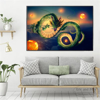 Dragon Ball Z Kai Painting Poster Print Decorative Wall Pictures For Living Room No Frame Home Decoration Accessories